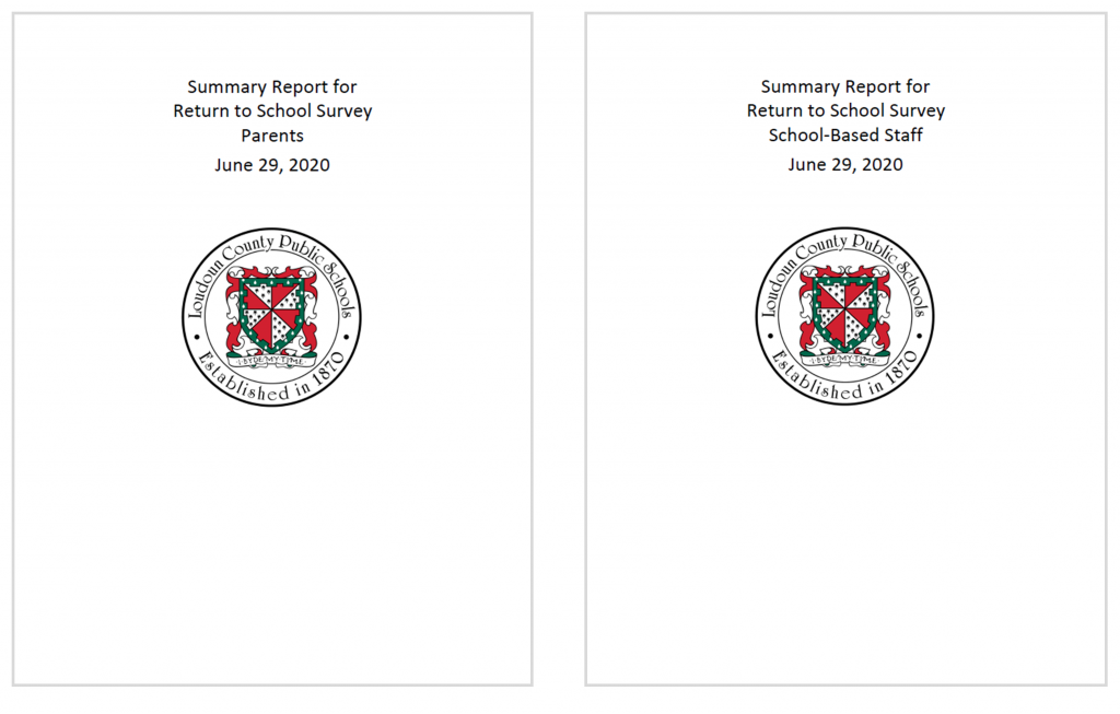 Vivian Jefferson's office shared detailed results within two 13-page reports, one for the parent survey and one for the staff survey.