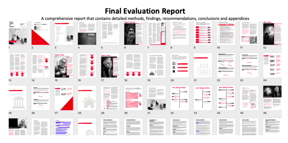 Final Evaluation Report:  A comprehensive report that contains detailed methods, findings, recommendations, conclusions and appendices