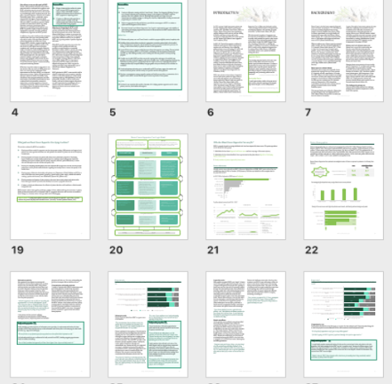 Example of using a colour palette in an evaluation report