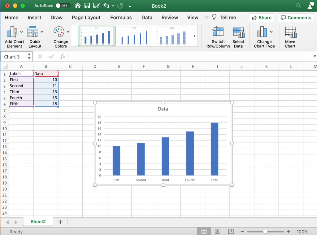 Labeling your bars in Excel.