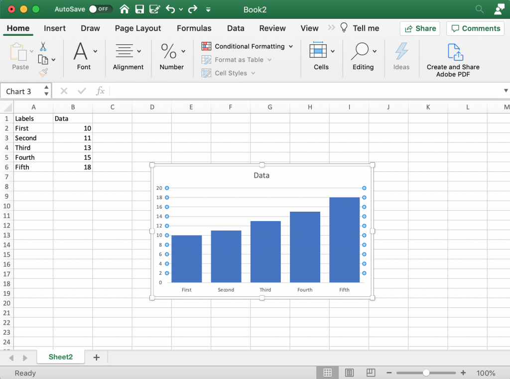 Creating a Clean Chart in Excel
