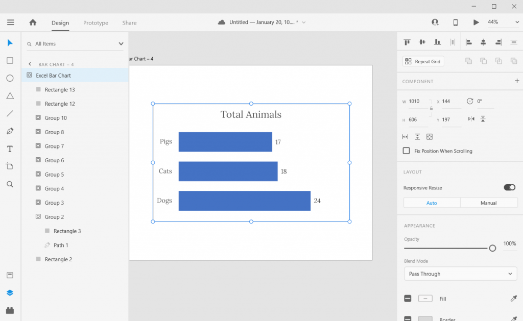 Pasting SVG Chart into Adobe XD