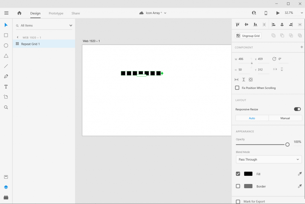 Adobe XD Icon Array Illustration How To 3