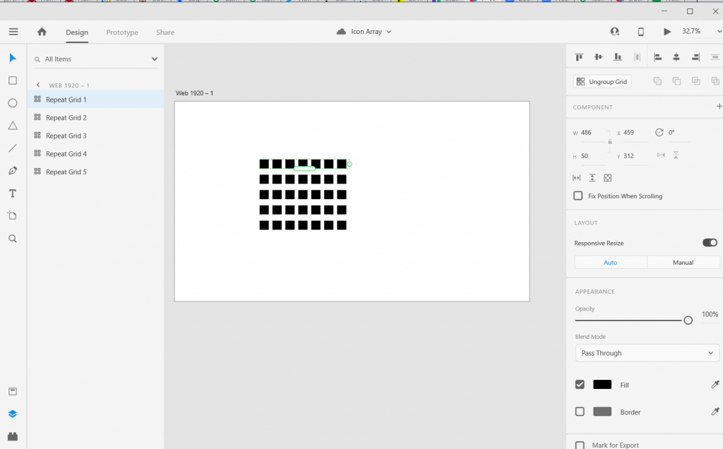 Adobe XD Icon Array Illustration How To 4