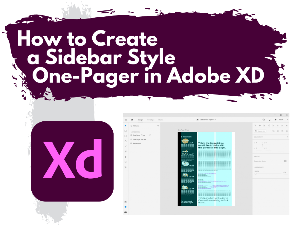 How to create a sidebar style one-pager in Adobe XD.