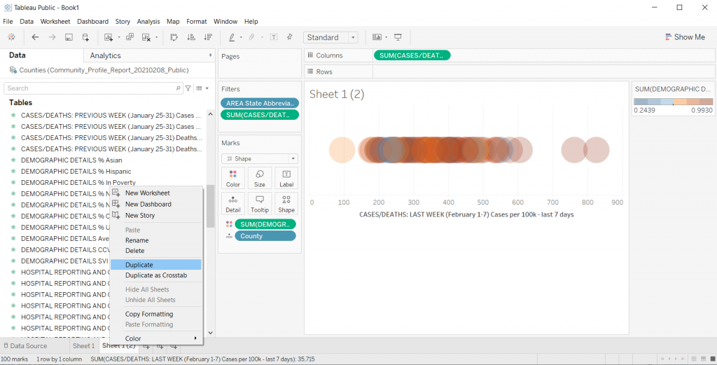 Adding a color variable in Tableau