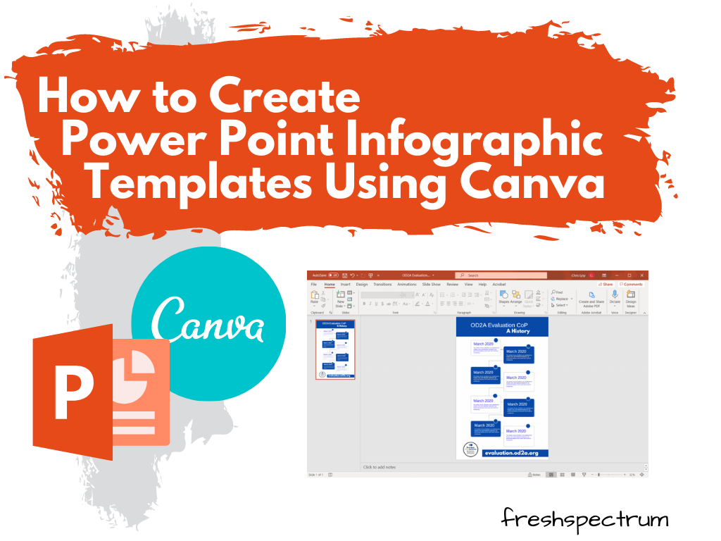 How to Create Power Point Infographic Templates Using Canva - Illustration
