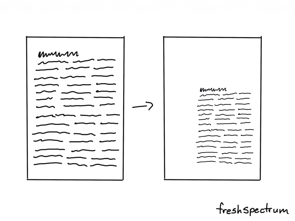 Incorporating white space into your template illustration.