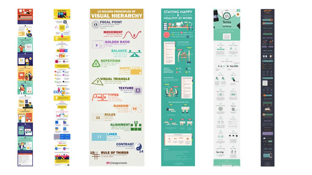 6 Example infographics.
